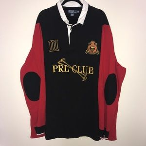 Vtg POLO RALPH LAUREN Rugby shirt PRL Club biglogo